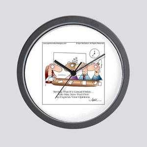 CASUAL FRIDAY by April McCallum Wall Clock
