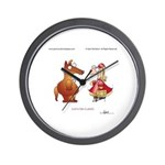 LET'S DO LUNCH by April McCallum Wall Clock