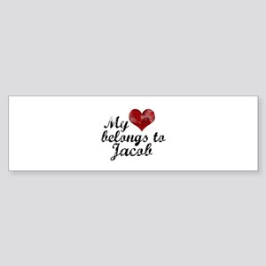 My Heart Belongs To Jacob Sticker (Bumper)