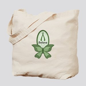 Believe- Green Ribbon Tote Bag
