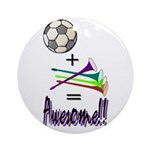 Ornament (Round) Soccer + Vuvuzelas = Awesome