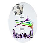 Ornament (Oval) Soccer + Vuvuzelas = Awesome