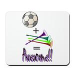 Mousepad Soccer + Vuvuzelas = Awesome