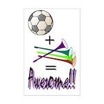 Mini Poster Print Soccer + Vuvuzelas = Awesome