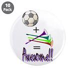 """3.5"""" Button (10 pack) Soccer + Vuvuzelas = Aw"""