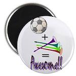 """2.25"""" Magnet (10 pack) Soccer + Vuvuzelas = A"""