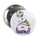 """2.25"""" Button (100 pack) Soccer + Vuvuzelas ="""