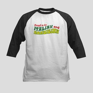 Italian and Brazilian Kids Baseball Jersey