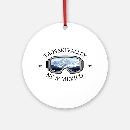 Taos Ski Valley - Taos - New Mexi Round Ornament