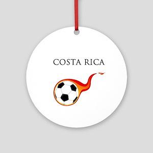 Costa Rica Soccer Ornament (Round)