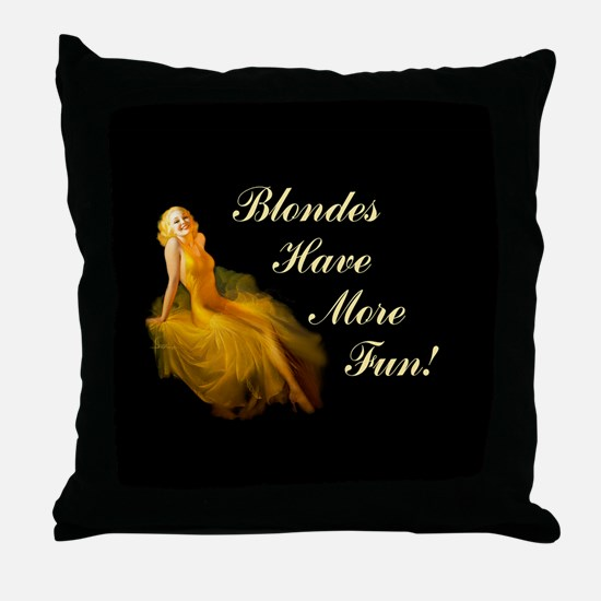 Blonde Pin-Up Throw Pillow