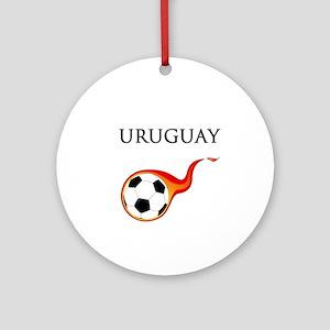 Uruguay Soccer Ornament (Round)