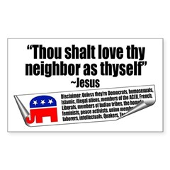 LOVE THY NEIGHBOR Rectangle Decal