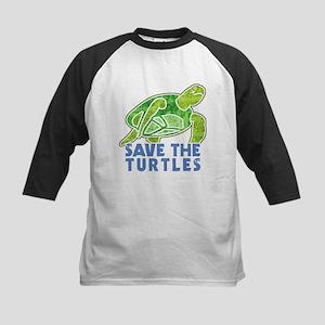 Save the Turtles Kids Baseball Jersey