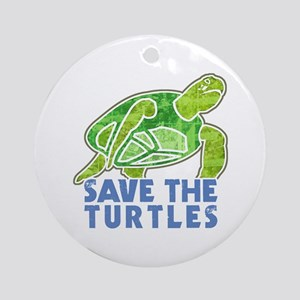 Save the Turtles Ornament (Round)