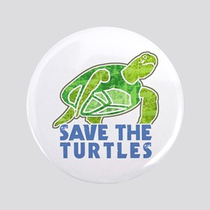 "Save the Turtles 3.5"" Button"