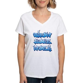 Show Your Work Graffiti Women's V-Neck T-Shirt