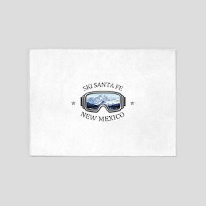 Ski Santa Fe - Santa Fe - New Mex 5'x7'Area Rug