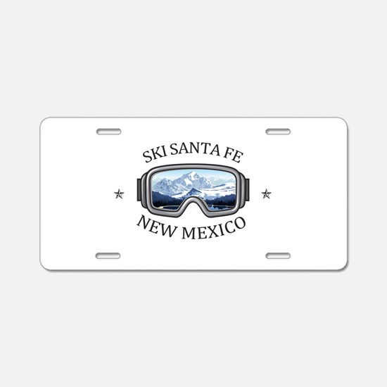 Ski Santa Fe - Santa Fe - Aluminum License Plate