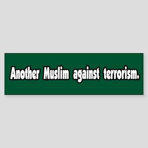 Muslim Against Terrorism Peace Bumper Sticker