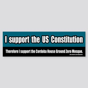 Support the Ground Zero Mosque Bumper Sticker