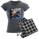 EMBARK COVER LOGO Women's Charcoal Pajamas