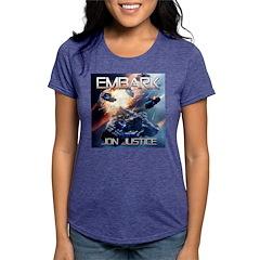 EMBARK COVER LOGO Womens Tri-blend T-Shirt