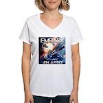 EMBARK COVER LOGO Women's V-Neck T-Shirt