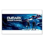 Embark Cover Logo Sticker (rectangle)