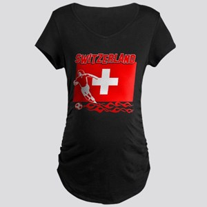 Swiss soccer Maternity Dark T-Shirt