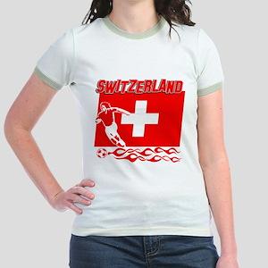 Swiss soccer Jr. Ringer T-Shirt