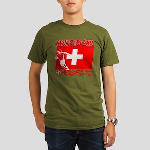 Swiss soccer Organic Men's T-Shirt (dark)