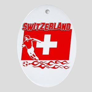 Swiss soccer Ornament (Oval)