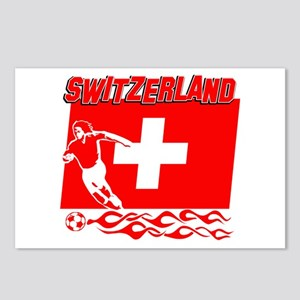 Swiss soccer Postcards (Package of 8)