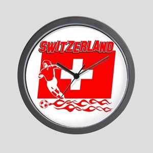 Swiss soccer Wall Clock