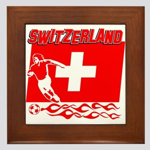 Swiss soccer Framed Tile