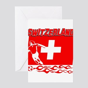 Swiss soccer Greeting Card