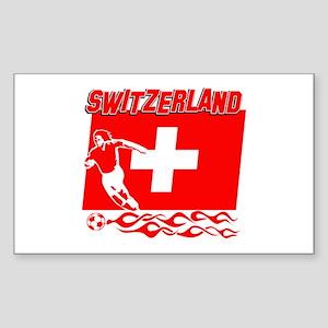 Swiss soccer Sticker (Rectangle)