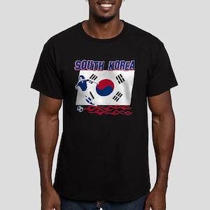 South Korean soccer Men's Fitted T-Shirt (dark)