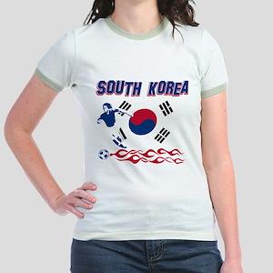South Korean soccer Jr. Ringer T-Shirt