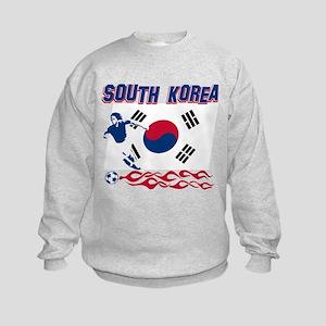 South Korean soccer Kids Sweatshirt