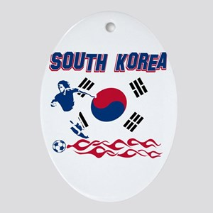South Korean soccer Ornament (Oval)