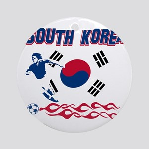 South Korean soccer Ornament (Round)