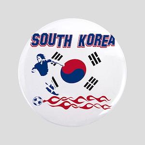 """South Korean soccer 3.5"""" Button"""