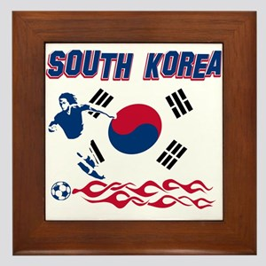 South Korean soccer Framed Tile
