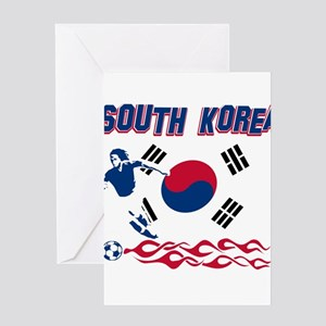 South Korean soccer Greeting Card