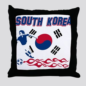 South Korean soccer Throw Pillow