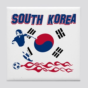 South Korean soccer Tile Coaster