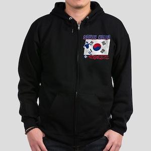 South Korean soccer Zip Hoodie (dark)
