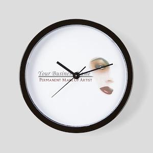 Permanent Makeup Wall Clock